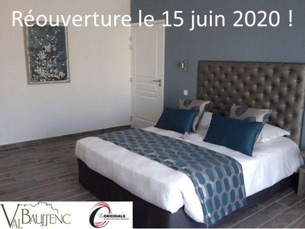 L'hôtel restaurant Val Baussenc The Originals rouvrira le 15 juin après la parenthèse de la Covid-19. Réservez votre chambre