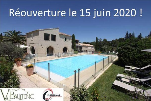 L'hôtel restaurant Val Baussenc The Originals rouvrira le 15 juin après la parenthèse de la Covid-19. Réservez votre séjour en Provence