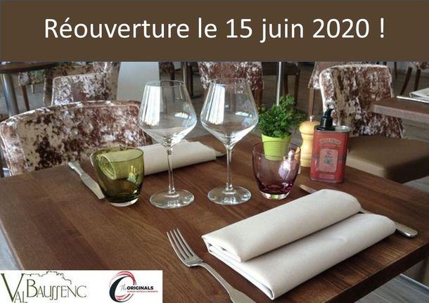 L'hôtel restaurant Val Baussenc The Originals rouvrira le 15 juin après la parenthèse de la Covid-19. Réservez votre séjour en Provence : hotellerie et restauration